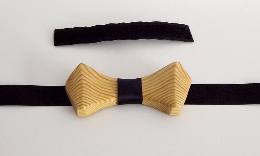 Nœud papillon artisanal fabriqué en bois