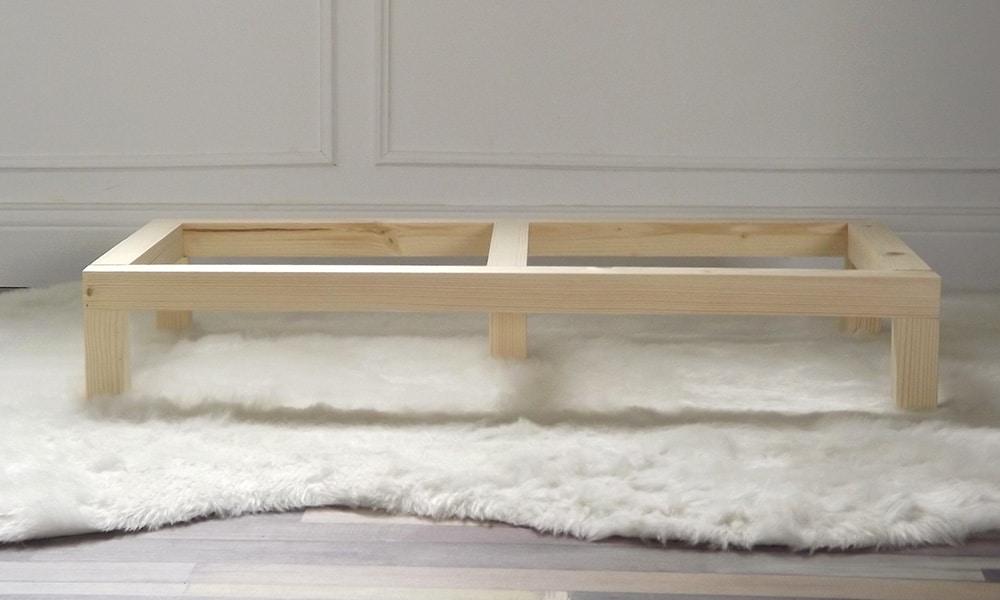 Les pieds, support double, pour les Mehliebox des meubles