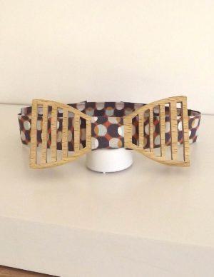 Véritable noeud papillon bois, fait main et totalement français.